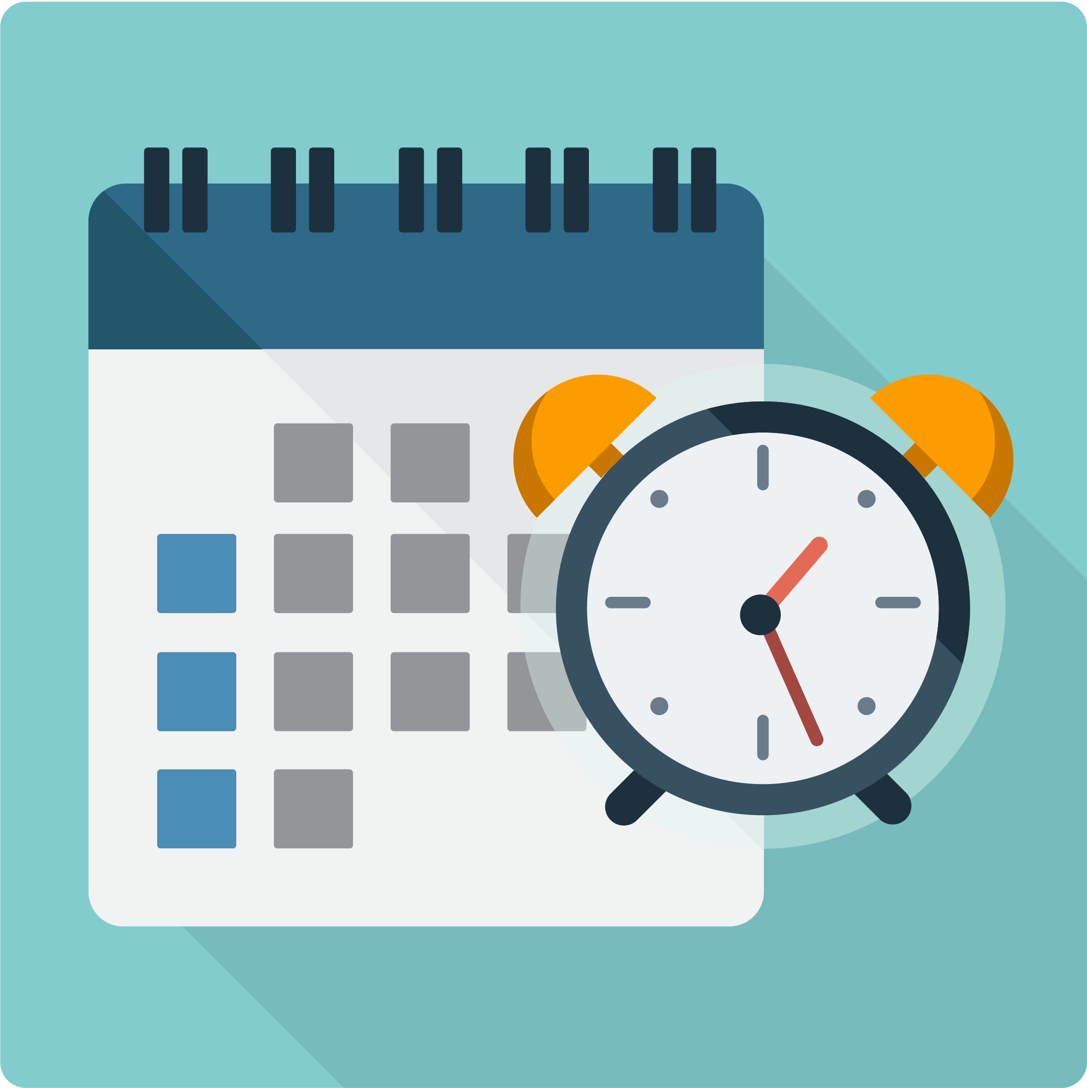 timeclocks and invoicing icon