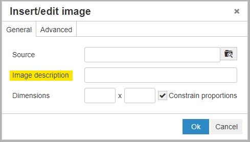 Optimize your image descriptions when making SEO updates