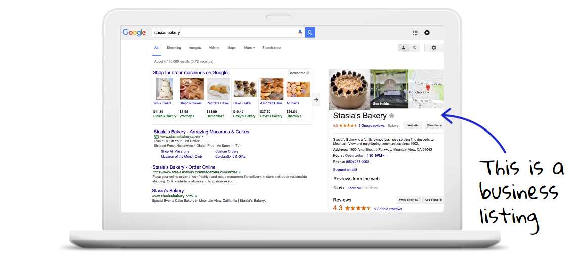 Google My Business Local Search Listing
