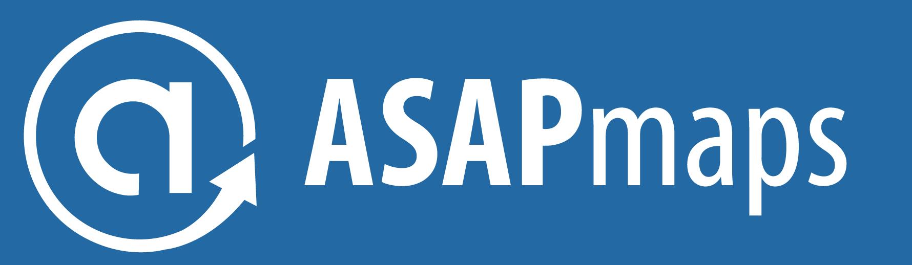 ASAPmaps Full Logo (White, Horizontal)