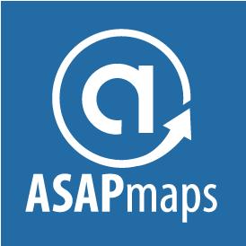 ASAPmaps Full Logo (blue, vertical)