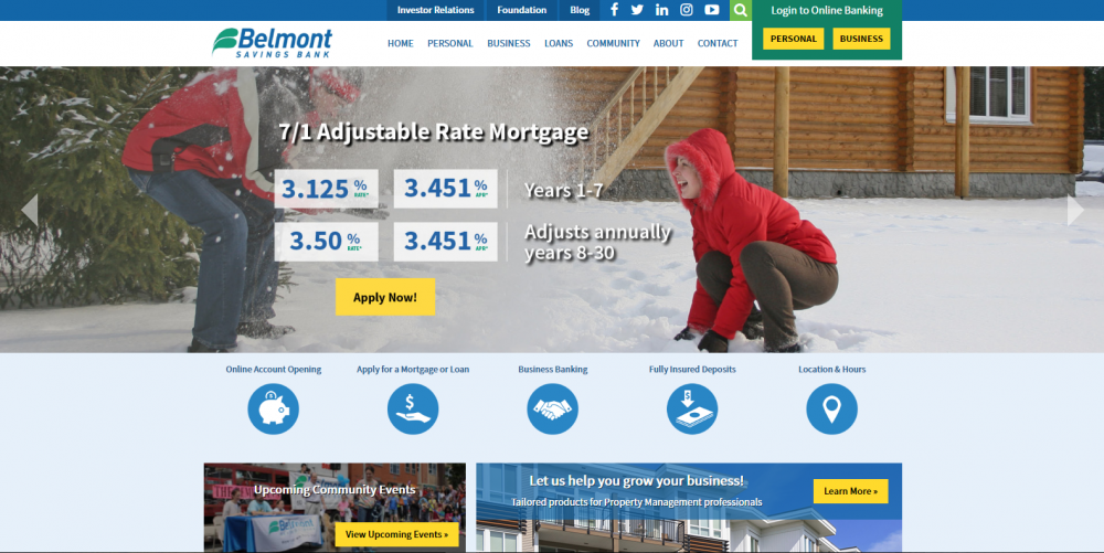 Belmont Savings Bank Homepage