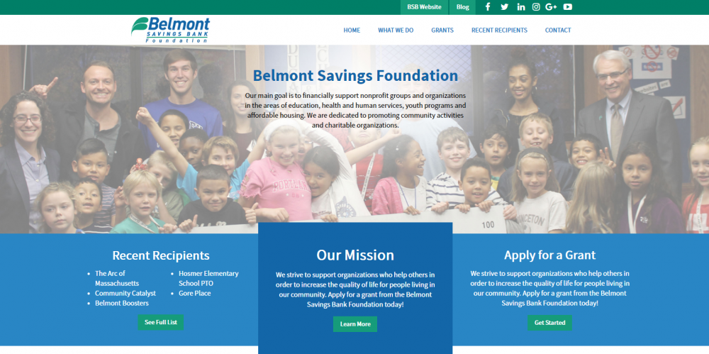 Belmont Savings Foundation Homepage