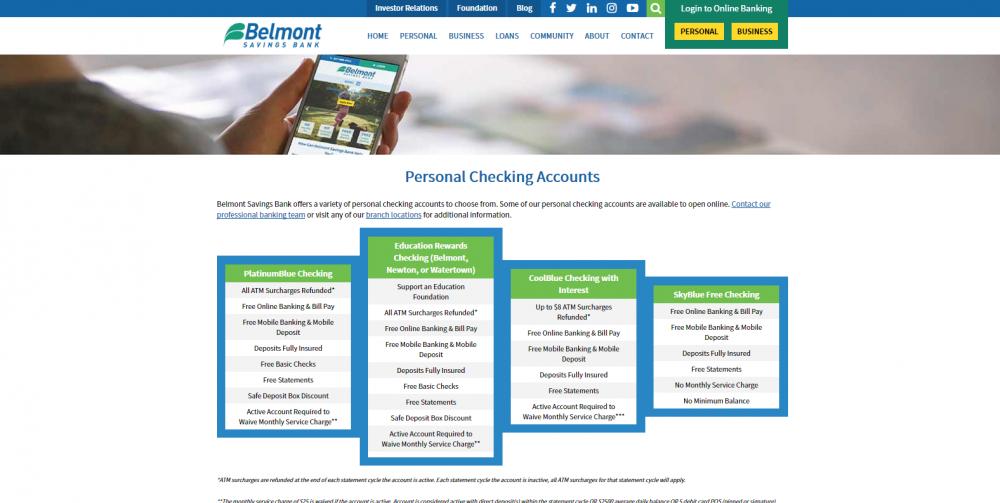 Belmont Savings Bank is a publicly traded bank in Boston, Massachusetts