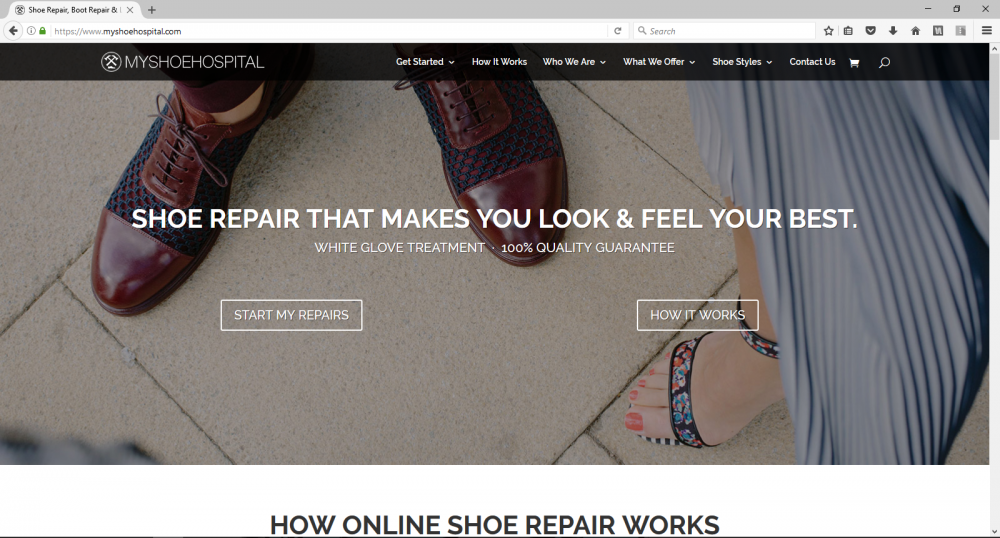 Award Winning Shoe Repair Website
