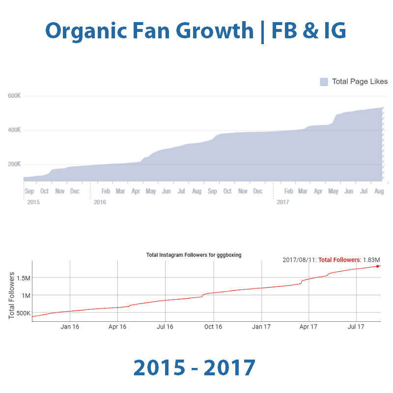 GGG Fan Growth on Instagram