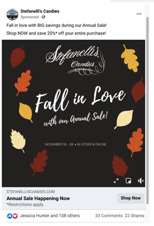 Annual Sale - Facebook Ad