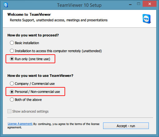 Step Two: Run TeamViewer